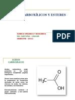 ACIDOS CARBOXILICOS Y  ESTERES 2016-2.ppt