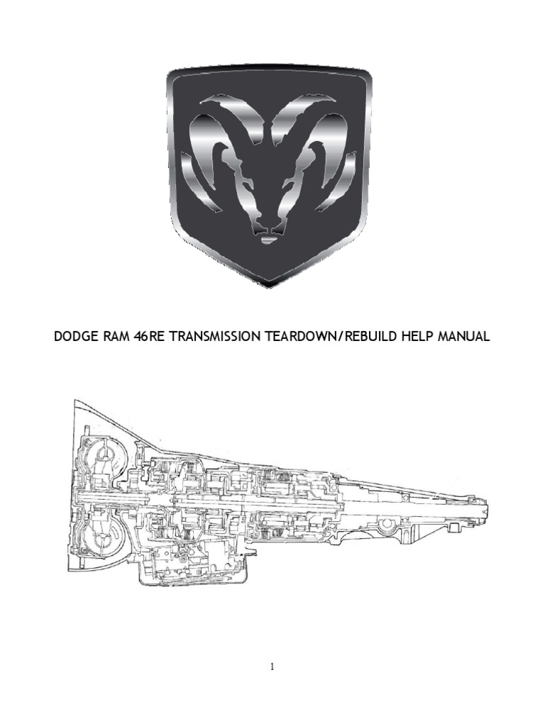 DODGE 46RE Transmission Teardown   Valve   Clutch