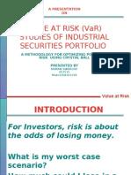 Value at Risk Studies of Industrial Security Portfolio by Naman Swaroop