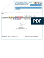 Certificado No Impedimento 0927168690