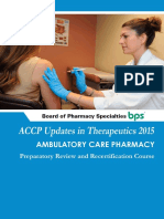 2015 Updates in Therapeutics-Ambulatory Care Pharmacy Preparatory Review and Recertification Course
