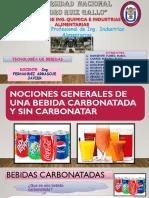 Bebidas Carbonatadas y No Carbonatadas