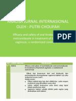 ANALISA JURNAL INTERNASIONAL farmakologi kebidanan