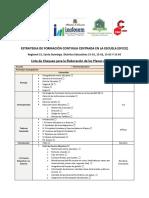 Lista de Chequeo Plan de Mejora - EFCCE (CEED-InTEC)