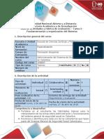 Guía de Actividades y Rúbrica de Evaluación - Tarea 2 - Fundamentación y Organización Del Sistema