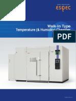 Espec Walk in Temperature Chamber