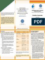 Brochure Estudios Generales