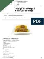 Receta de Albóndigas de Lentejas y Remolacha Con Salsa de Calabaza _ EROSKI CONSUMER