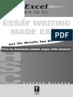 Excel Essay Writing
