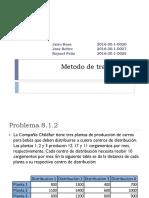 Examen - SP - Asignacion y Transporte