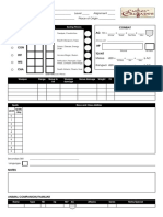 C&C Character Sheet by Michael Davis