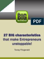 27 BIG Characteristics That Make Entrepreneurs Unstoppable
