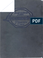 Locomobile Pleasure Cars Instruction Book