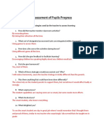 assessment of pupils progress