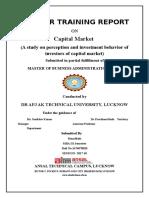 Summer Internship Report on Capital Market