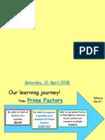 1. Prime Factor Decomposition