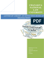 Itl- Letter of Credit