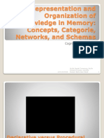 Representation and Organization of Knowledge in Memory