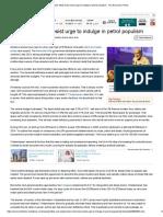 View_ Modi Must Resist Urge to Indulge in Petrol Populism - The Economic Times