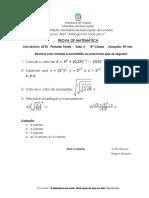 Prova de Matemática Da 10ª Classe 2018 a - Cópia