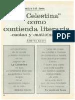 La Celestina Como Contienda Literaria