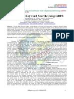 Identifying Keyword Search Using GDFS