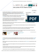 Sebi May Seek Forensic Probe of ICICI Bank's Books, Disclosures - The Economic Times