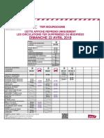 Trafic sur la ligne Paris-Dijon le dimanche 22 avril
