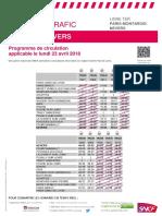 Trafic sur la ligne Paris-Montargis-Nevers le lundi 23 avril