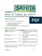 Module 28 SAHITA Fireplaces Gas Installations