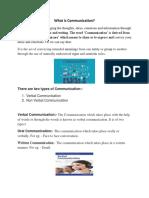 Communication Skills Report