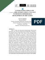 SWAMI VIVEKANANDA'S IDEAS AND PHILOSOPHY OF EDUCATION