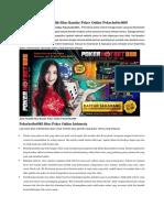 Jalan Memilih Situs Bandar Poker Online Pokerhotbet888
