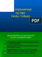 Impluwensya ng mga Hindu o Indian