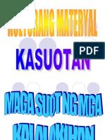 Materyal Na Kultura - Kasuotan