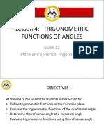 Math12 - L4 (Trigo Functions of Angles)