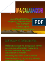 dating pangalan ng calabarzon