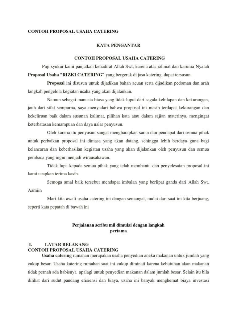 Contoh Proposal Usaha Catering Docx