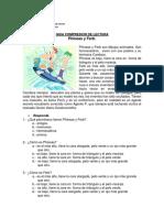 Guia 8 Comprension de Lectura Phineas y Ferb