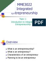01 Introduction to Integrated Entrepreneurship Ayi