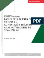 ELECTRICIDAD Cables de 3 KV Instalaciones de Señalización 5ª Edición Junio-2017