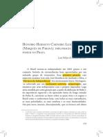Honório Hermeto Carneiro Leão (Marquês de Paraná)- diplomacia e poder no Prata - Pensamento Diplomático Brasileiro Parte 1