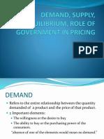 Demand, Supply, Equilibrium