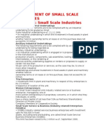 Management of Small Scale Industries