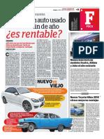 La Rentabilidad de Autos - Correo Puno diciembre 2015