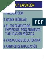 Tema7 Modificación conducta exposición