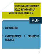 Modificación Conducta Historia