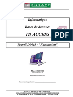 Polycop TD Access 2007 Facturation