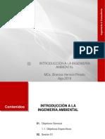 Sesión I y II Introducción a La Ing. Ambiental