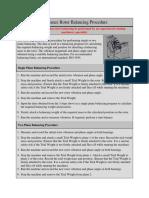 RBalance Rotor Balancing Procedure